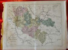 Old Map 1900 France Département de la Lorraine Metz Thionville St Avold taverne
