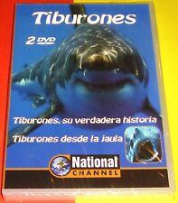 TIBURONES SU VERDADERA HISTORIA + TIBURONES DESDE LA JAULA 2 DVD - Precintada