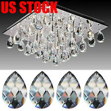 100X Clear Chandelier Glass Crystal Lamp Prism Part Hanging Drop Pendant Decor