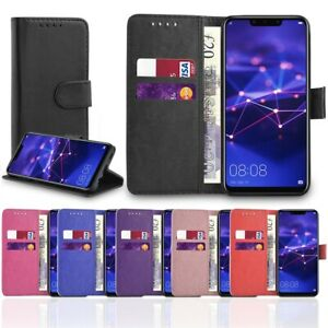 Smart Case For Huawei P20 Pro Lite Mate P Smart Leather Wallet Flip Stand