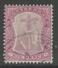 MONTSERRAT SG43 1909 6d DULL & DEEP PURPLE FINE USED