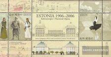 Estonia Bloque 25 (completa.edición.) nuevo con goma original 2006 teatro