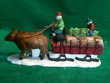 """Department 56 Heritage Village Collection """"Ox Sled"""" #5951 With Box"""