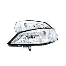 For Vauxhall Astra G Mk4 Hatchback 1998-05 Headlight Lamp Chrome Pair OS NS