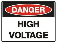 "Safety Sign ""DANGER HIGH VOLTAGE 5mm corflute 300MM X 225MM"""