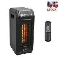 1500W Quartz Space Heater Infrared Electric Heater ED Remote Timer Portable Chic