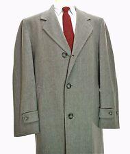 Mt. Rock Overcheck Wool Overcoat 44R Large 50's vtg Grey Pink Atomic Coat Custom