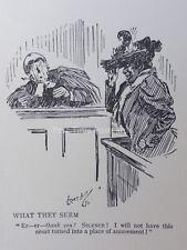 Barrister droit perruque & Robe rien est ce que ils semblent antique Cartoon