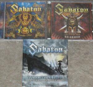 SABATON – Sammlung, Paket – 3 Alben, 4 CDs, 1 DVD