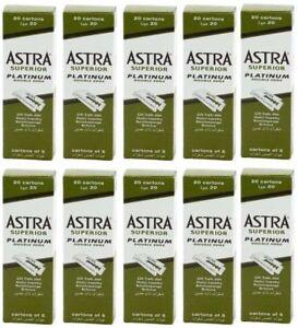 1000 pcs Astra Superior Platinum Double Edge Shaving Razor Blades+Free Razor