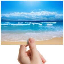 "Beach Scene Ocean Sea Paradise Small Photograph 6""x4"" Art Print Photo Gift #8962"