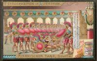 Ancient Sparta Pyrrhic Dance Greece Greek Music c1900 Trade Ad Card