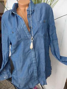 Sheego Jeans Bluse Jeanshemd Shirt Damen Blau Ton (016) NEU