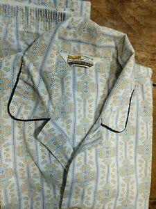 GRANTS MENSWEAR VTG 2 Piece Pajama Set Sleepwear Pants Top Geometric SMALL