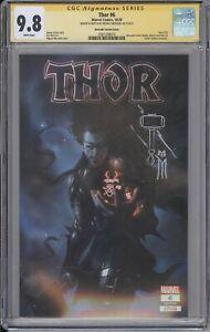 Thor #6 CGC SS 9.8 Miguel Mercado remarked Black Winter color TRADE cvr MARVEL