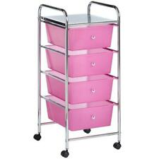 Make Up Trolley SALON Rosa Storage 4 cassetti carrello casa bellezza Cesto VANITY Scaffale