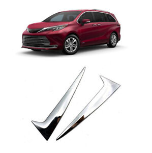 2pcs ABS Chrome Rear Window Triangle Cover Trim For Toyota Sienna 2021 2022