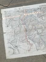 WWI (1918) French & AEF Battle Of Vigneulles German Trench Positions Map Relic