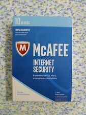 NEW McAfee Internet Security 2017 - 10 Devices 1 Year protection RN30