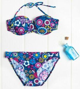 Punto Blanco Women's Blue Floral Bikini Set - 34B