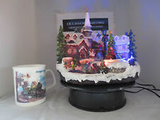 Lit village collection musical scene Christmas village scene church scene