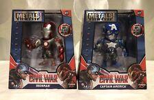 Marvel Civil War Captain America - IRONMAN and CAPTAIN AMERICA Metals Die Cast