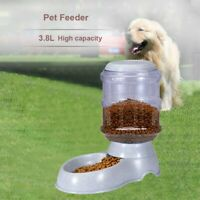 Gravity Pet Feeder Automatic Cat Dog Food Dispenser Storage Container Station US