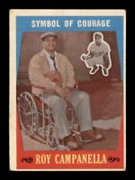 1959 Topps Set Break # 550 Symbol Of Courage Roy Campenella VG *OBGcards*