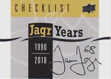 2018-19 18-19 UD SERIES 1 JAROMIR JAGR SET 1-25 JAGR YEARS WITH HEADER CHECKLIST