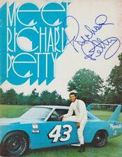 "1970 Richard Petty signed ""Meet Richard Petty"" Plymouth Superbird NASCAR Booklet"