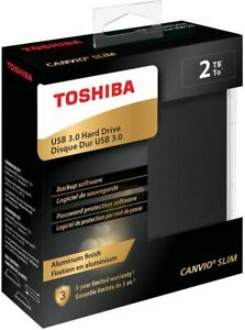Toshiba External Hard Drive 2TB (Canvio Slim)