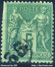 FRANCE TYPE SAGE N° 75 BELLE OBLITERATION JOUR DE L'AN ENCERCLEE N° 55 A VOIR