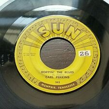 Carl Perkins - Boppin' the Blues/All Mama's Children 45 Sun orig. rockabilly VG-