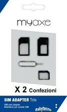 MY-AXE NR 2 KIT ADATTATORE MICRO SIM NANO STANDARD UNIVERSALE CARD SMARTPHONE IT