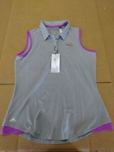 1 NWT ADIDAS WOMEN'S SHIRT, SIZE: LARGE, COLOR: LIGHT BLUE/PURPLE (P1)