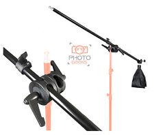 Light Boom Arm - Telescopic 135cm - Universal Lock Nut & Sand Bag - Photo Studio