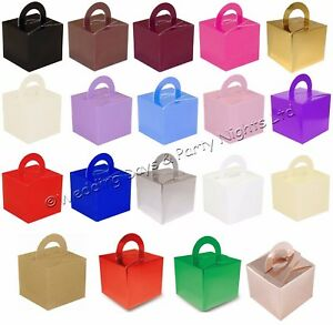 10 Square Favour Boxes Helium Balloon Weight Wedding Christening Party Decor Box