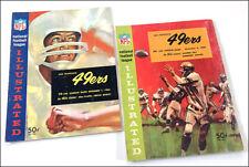 2 vintage San Francisco 49ers v Los Angeles Rams Dec.1963/4 game programs NFL