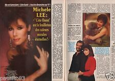 Coupure de presse Clipping 1990 Michele Lee (3 pages)