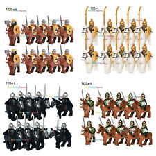 10pcs Knight + 10pcs Horse Kingdom Army Soldier Figure Lego Military Minifigure