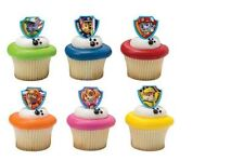 Paw Patrol cupcake rings (24) party favor cake topper 2 dozen