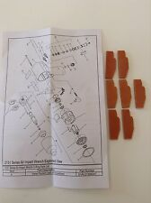 Ingersoll Rand Vane Pack 2135-42-A7 for IR2135, also fits IR2131, 231C,G,H,XP