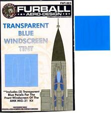 Furball Decals 1/48 TRANSPARENT BLUE WINDSCREEN TINT for AMK MIKOYAN MiG-31