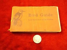 "NEAT VTG ANTIQUE 1930 COLOR BOOK ""BIRD GUIDE, LAND BIRDS EAST OF THE ROCKIES"""