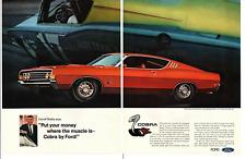 1969 TORINO COBRA-JET RAM-AIR / CARROLL SHELBY ~ ORIGINAL 2-PAGE PRINT AD