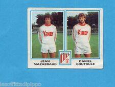 FRANCIA-FOOTBALL 80-PANINI-Figurina n.402- MAZABRAUD+GOUTOULE - LIMOGES -Rec