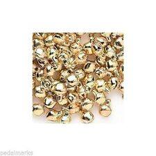"""LOT 100 Metal JINGLE BELLS ~ GOLD Color ~ Beads Drops  Charms 6mm (1/4"""")"""