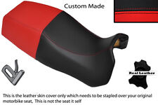 BLACK & RED CUSTOM FITS DUCATI PASO 750 906 907 IE DUAL REAL LEATHER SEAT COVER