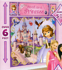 SOFIA Scene Setter HAPPY BIRTHDAY party wall decoration kit 6' Disney Princess