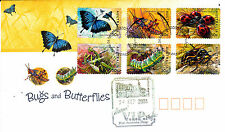 2003 Bugs and Butterflies (P&S Stamps) FDC - Collectors V.I.P Night PMK